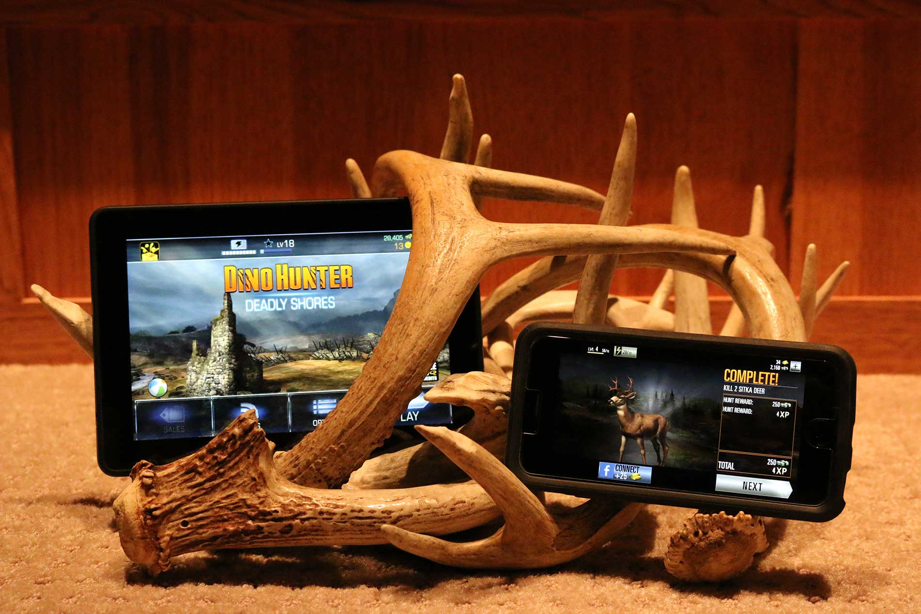 Dino Hunter and Deer Hunter for the Kindle Fire and iPhone 6s
