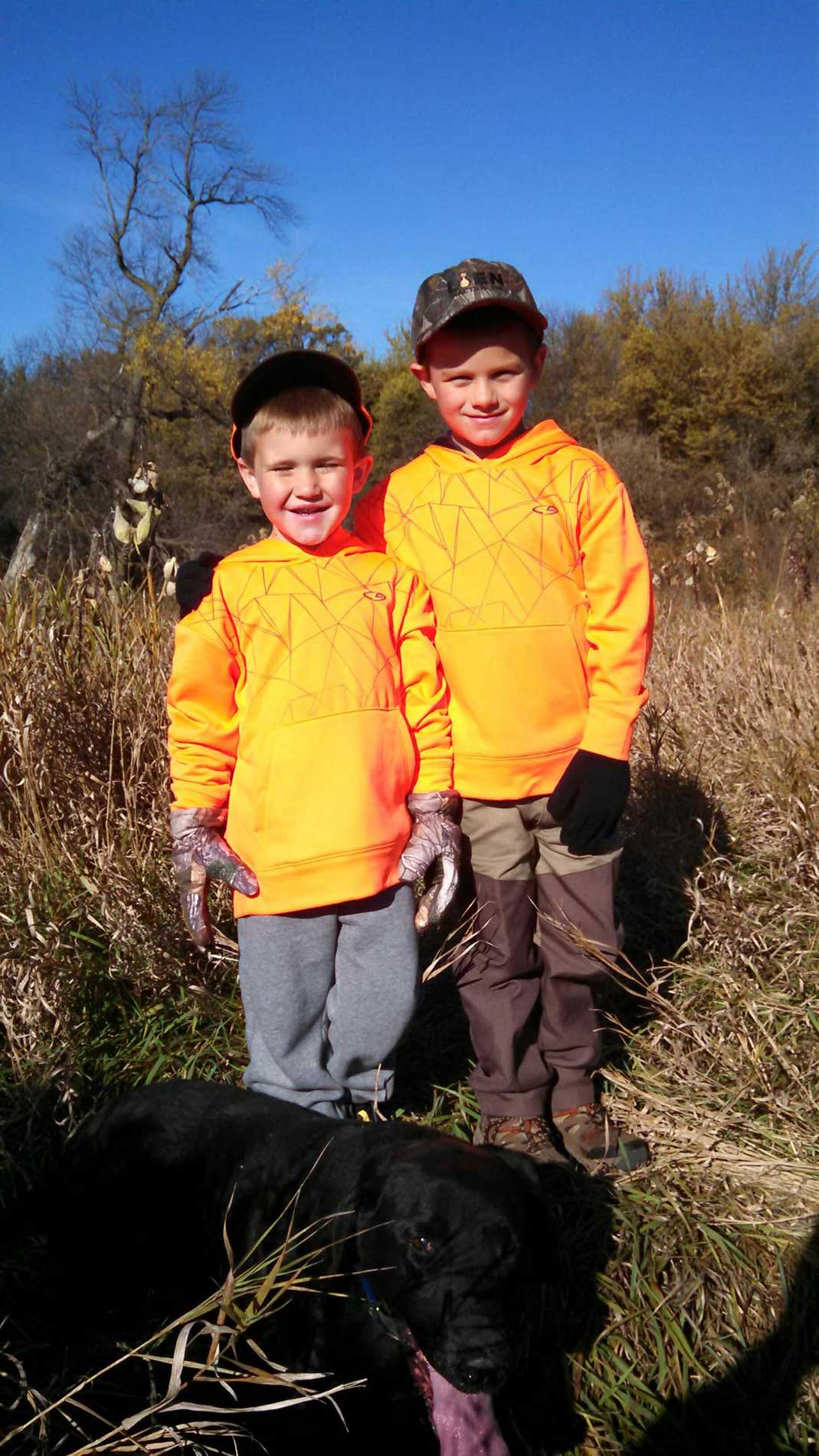 Reese and Cole on Reese's First Pheasant Hunt