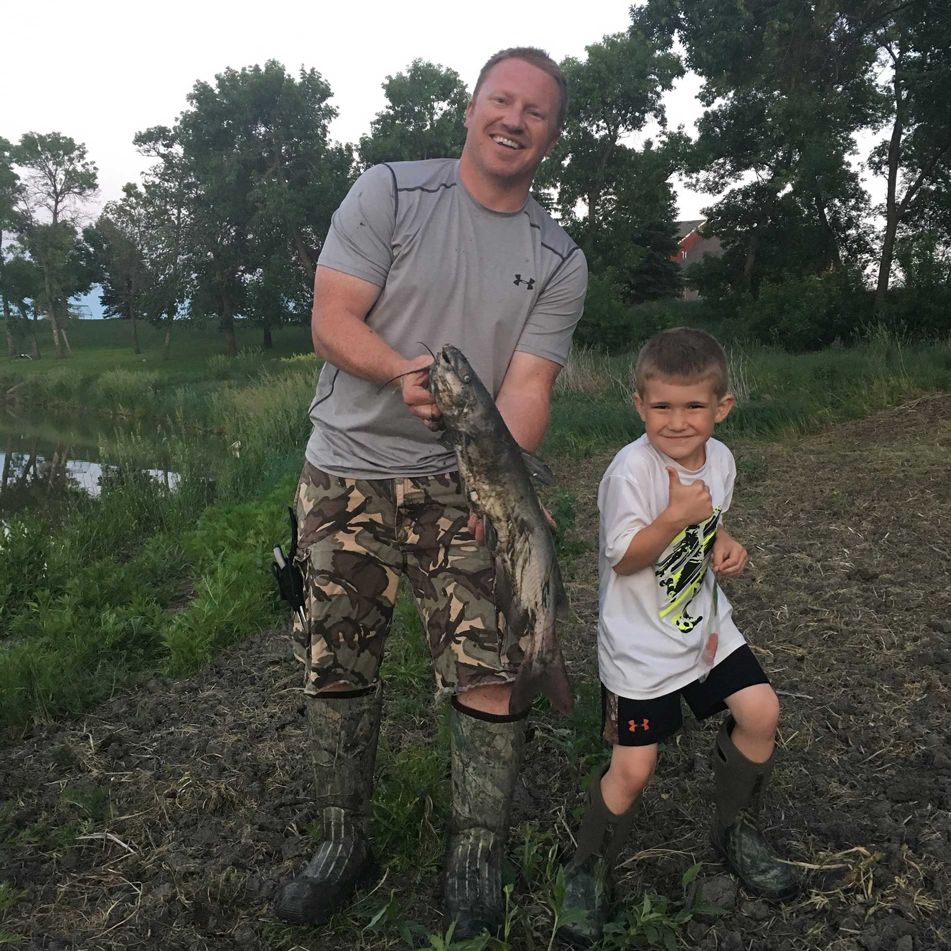 Reese and I with our catch